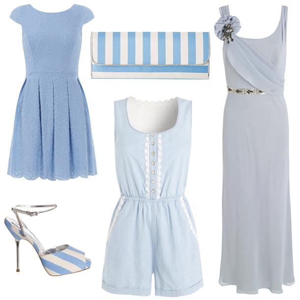 Голубая одежда пастельных оттенков