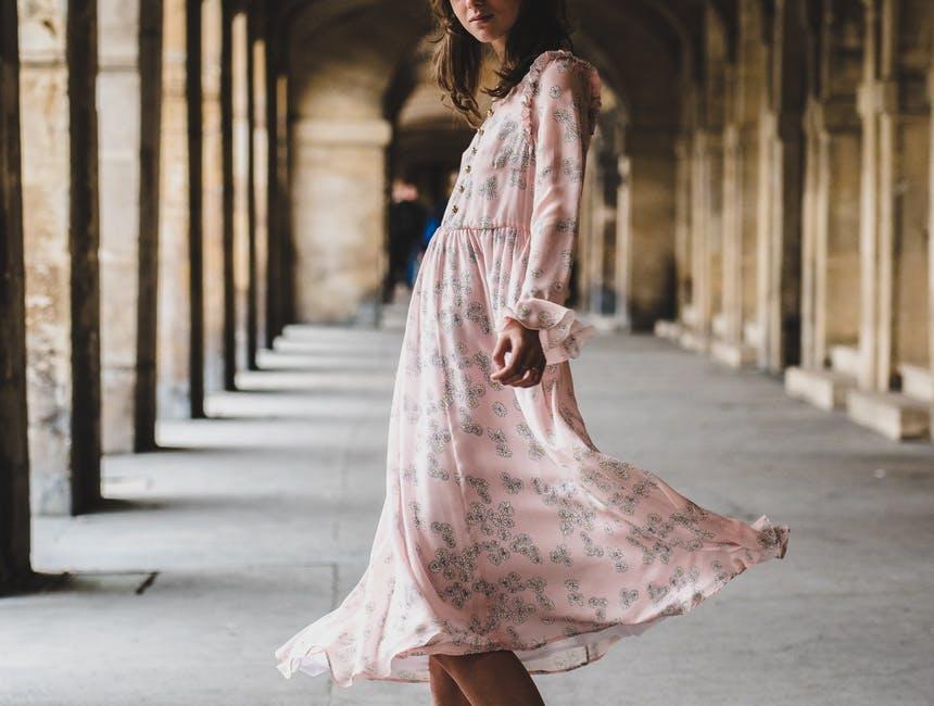 Летящее платье на раннюю осень