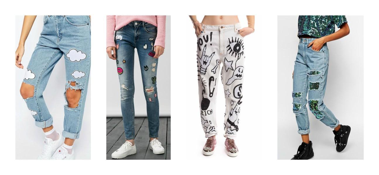 Нашивки на джинсах - фасони