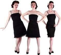 Фото маленького черного платья в стиле Коко Шанель на трёх молодых и...